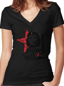 Hasta La Victoria Siempre! - Che Guevara T-Shirt Women's Fitted V-Neck T-Shirt