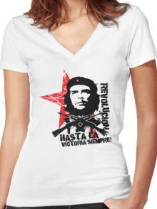 Hasta La Victoria Siempre! - Che Guevara T-Shirt Women's Fitted V-Neck T-Shirt