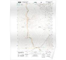USGS Topo Map Oregon Mount Washington 20110811 TM Poster