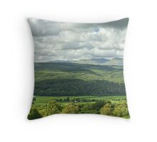 The Rusland Valley..A Panorama Throw Pillow