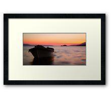 Sunset at Bafa Lake Framed Print