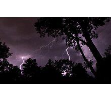 Power - Lightning, Rockville, MD Photographic Print
