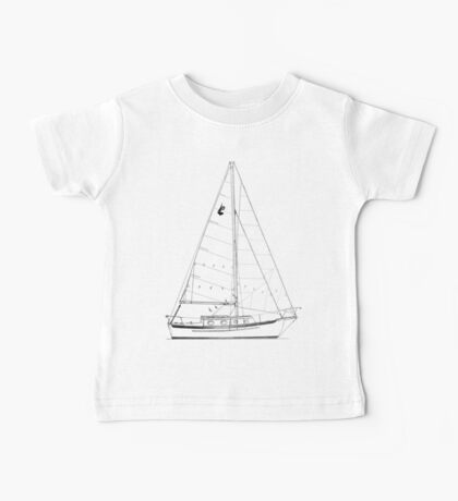 Dana 24 sail plan T shirt (Printed on FRONT) Baby Tee