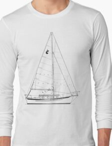 Dana 24 sail plan T shirt (Printed on FRONT) Long Sleeve T-Shirt