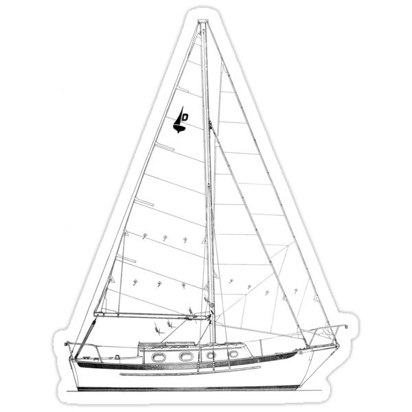 Dana 24 sail plan T shirt (Printed on FRONT) by benjy