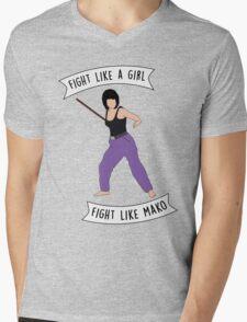 Fight like Mako Mens V-Neck T-Shirt