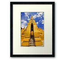 Golden Stupa Framed Print