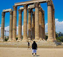 Temple Of Zeus Onlooker by jalmoree