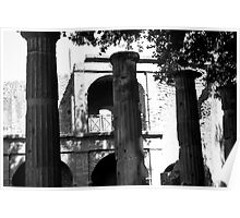 Ruins Of An Old Greek Theater Poster