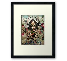 Spiderwoman Framed Print