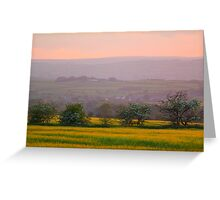 The Gathering Dusk over Bolam, County Durham, England Greeting Card