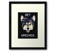 GET WRECKED - Wolf Framed Print