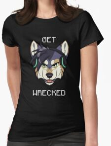 GET WRECKED - Wolf Womens Fitted T-Shirt