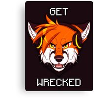 GET WRECKED - Fox Canvas Print
