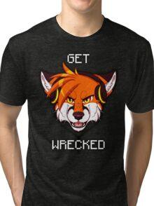 GET WRECKED - Fox Tri-blend T-Shirt