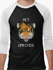 GET WRECKED - Tiger Men's Baseball ¾ T-Shirt
