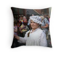 Victorian child at play Throw Pillow