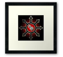 Dicing with Chaos Framed Print