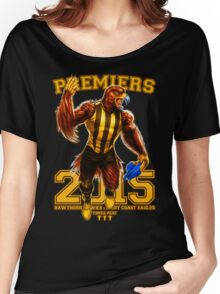 'The Mighty Premiers From Hawthorn' 2015 Print By Grange Wallis Women's Relaxed Fit T-Shirt