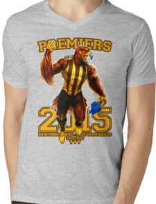 'The Mighty Premiers From Hawthorn' 2015 Print By Grange Wallis Mens V-Neck T-Shirt