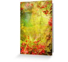 Garden Abstract 11 7 Greeting Card