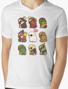 Puglie Halloween Mens V-Neck T-Shirt