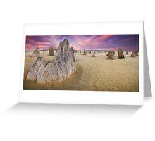 World Famous Pinnacles Desert, Western Australia Greeting Card
