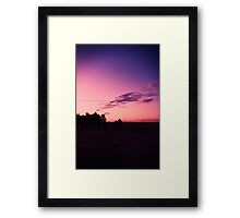 Sky Goes Crazy. Framed Print