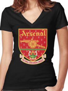 Arsenal FC Retro Women's Fitted V-Neck T-Shirt