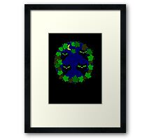 Scary canary t-shirt design Framed Print