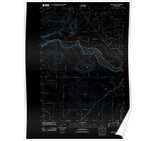 USGS Topo Map Oregon Houston Lake 20110825 TM Inverted Poster