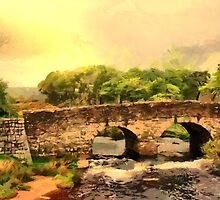 Postbridge Packhorse Bridge, Dartmoor built 1780 by Dennis Melling