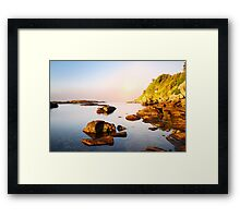 amazing morning on the wild coast Framed Print