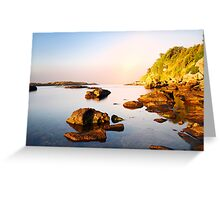 amazing morning on the wild coast Greeting Card