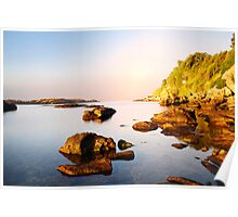 amazing morning on the wild coast Poster