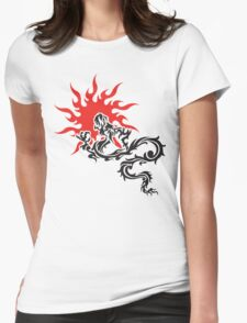 Chinese Dragon Womens Fitted T-Shirt