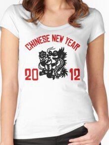 Chinese New Year 2012 Women's Fitted Scoop T-Shirt