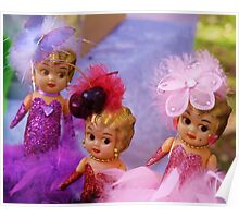 Carnival Dolls, throw cushion.  Poster
