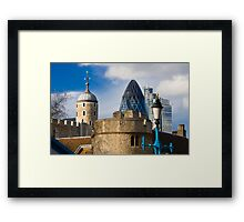 Tower and Gherkin Framed Print
