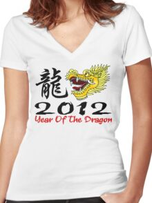 Year of The Dragon 2012 Women's Fitted V-Neck T-Shirt