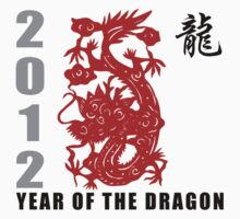 Year of The Dragon 2012 Paper Cut One Piece - Long Sleeve