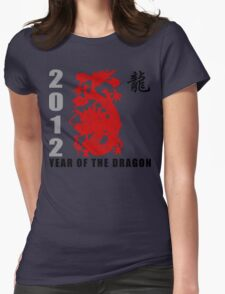 Year of The Dragon 2012 Paper Cut Womens Fitted T-Shirt