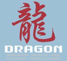 Chinese Zodiac Dragon Characteristics Kids Tee