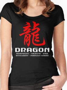 Chinese Zodiac Dragon Characteristics Women's Fitted Scoop T-Shirt