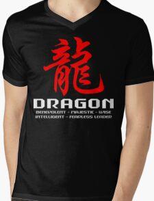 Chinese Zodiac Dragon Characteristics Mens V-Neck T-Shirt