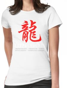 Chinese Zodiac Dragon Characteristics Womens Fitted T-Shirt