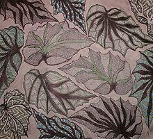 Angel Wing Begonia Leaves by linmarie