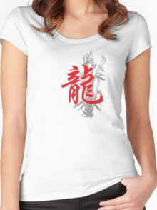 Chinese Zodiac Dragon Women's Fitted Scoop T-Shirt