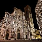 The Duomo by night in Florance by Gabor Pozsgai