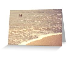 Butterfly on the beach, Coral bay, Western Australia Greeting Card
